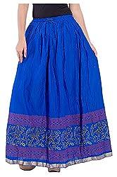 Magnus Women's Long Skirt (SKT493, blue, S)