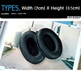 Earpads Replacement for headset, Compatible with Sennheiser HD202, HD212 Pro, etc. (Packaged 1 pair (2 pieces)) Type 5