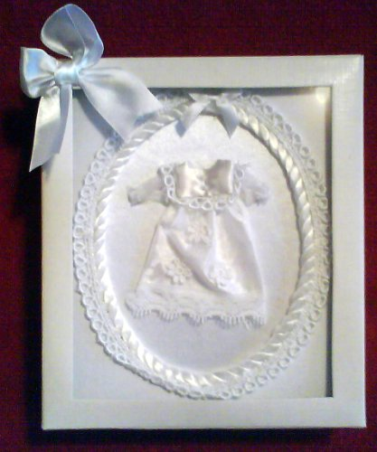 babys satin soft christening photo album