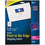 Avery 6874 White laser labels for color printing, 3 x 3-3/4 label, 150 labels/pack