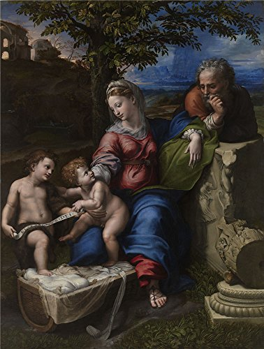perfect-effect-canvas-the-vivid-art-decorative-prints-on-canvas-of-oil-painting-raphael-the-holy-fam