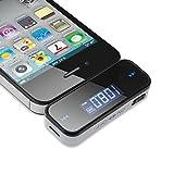 Adaptador con transmisor FM VicTsing para el carro, con conector de 3,5 mm, compatible con iPad, iPod, iPhone 6, 5S, 5C, 5, 5G, 4S, 4, 3GS, 3G, Samsung Galaxsy S4, S3, Nota 3, [Nueva versión].