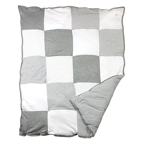 Burt's Bees Baby Dottie Bee Quilt- Heather Gray (Quilt For Baby compare prices)