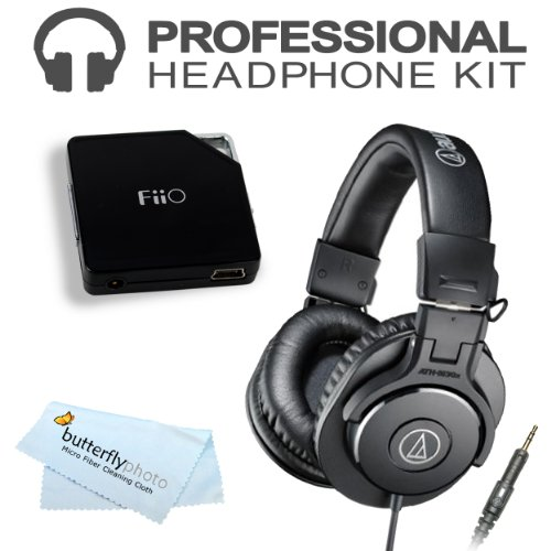 Audio-Technica Ath-M30X Professional Monitor Headphones (New 2014 Model) With Fiio E6 Headphone Amplifier