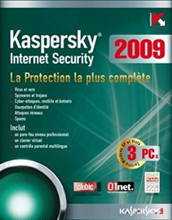 Kaspersky internet security 2009  (3 postes, 1 an)