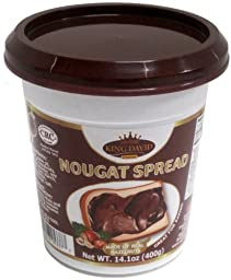 King David Kosher Hazelnut Nougat Spread (Pack of 6)