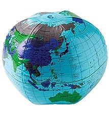 US Toy One Inflatable Earth Globe Vinyl Beach Ball, 16\