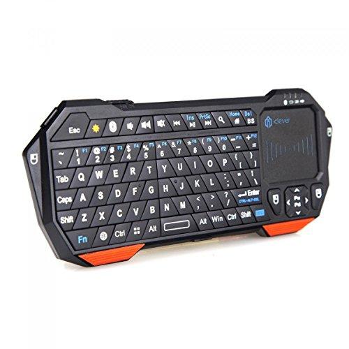 iClever ワイヤレスBluetooth キーボード&マウス一体型 タッチパッド搭載 バックライト付 IC-RF03