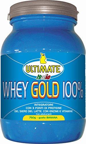 Ultimate Italia WGB750 Whey Gold 100 % Proteine del Siero del Latte - 750 gr