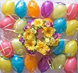 SET Bundle mit 120 Kunststoff Ostereiern 7cm mit Zubehör Kerzenring