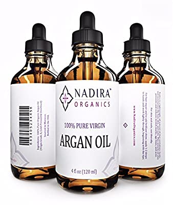 Nadira Organics Virgin Argan Oil for Skin, Face, Hair, and Nails, 4 fl. oz.