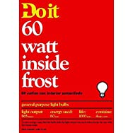 GE Private Label 13064 Do it Inside Frost Light Bulb-60W 4PK IF BULB