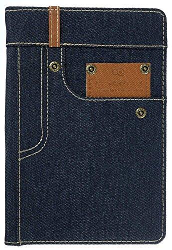 3Q Jeans Custodia per Apple iPad Mini 4 Novità maggio 2016 Porta Tablet Cover iPad 4 Top Design Esclusivo Svizzero Custodia iPad 4 Libro Grigio