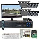 GW Security VD8CHH1 8-Channel HD-SDI DVR 8 x 1/3 Inches 2.1 Meg CMOS Camera with 1080P 2.8 to 12mm Lens, 72 Pieces IR LED 196-Feet IR Distance