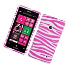 For T-Mobile Nokia Lumia 521 Windows Phone 8 Hard Case Zebra Pink and White