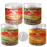 Chocholik Dry Fruits - Almonds Italian Herbs, Mexican Salsa, Smoked Barbeque & Smoked Jalapeni With 5gm Pure Silver...