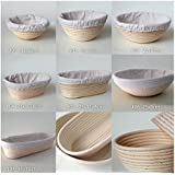 1 x Round (22x8.5cm) Bread Proofing Proving Baskets, Rattan Banneton Brotform, Sour Dough proofing, artisan bread. With Liner.