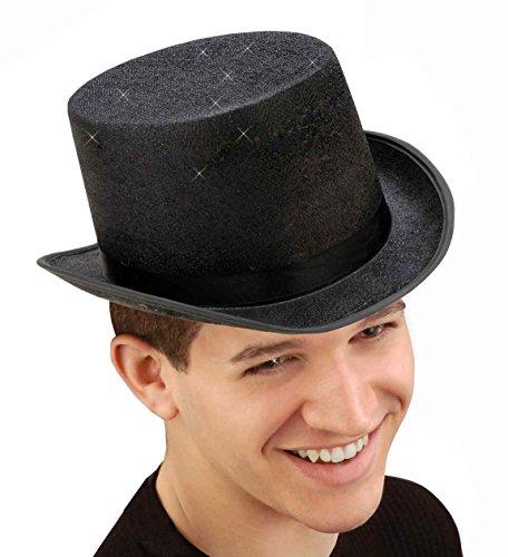 Forum Novelties Men's Glitter Mesh Adult Top Hat