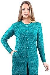 Montrex Women's Plain Coats (Montrex-6407Turquosie, Turquoise, M)