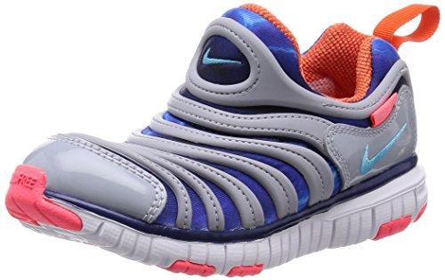 [Nike] NIKE DYNAMO FREE (PS) 343738-003 343738-003 (Wolf grey / Clearwater / deep Royal blue / orange electro / 11 C)