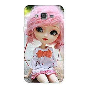 Cute Pink Doll Back Case Cover for Galaxy J7