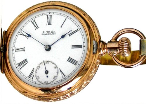 #W6A Waltham 14K Solid Fancy Rose Gold Antique Ladies Pocket Watch 1 Size 9 Jewels Ca 1890