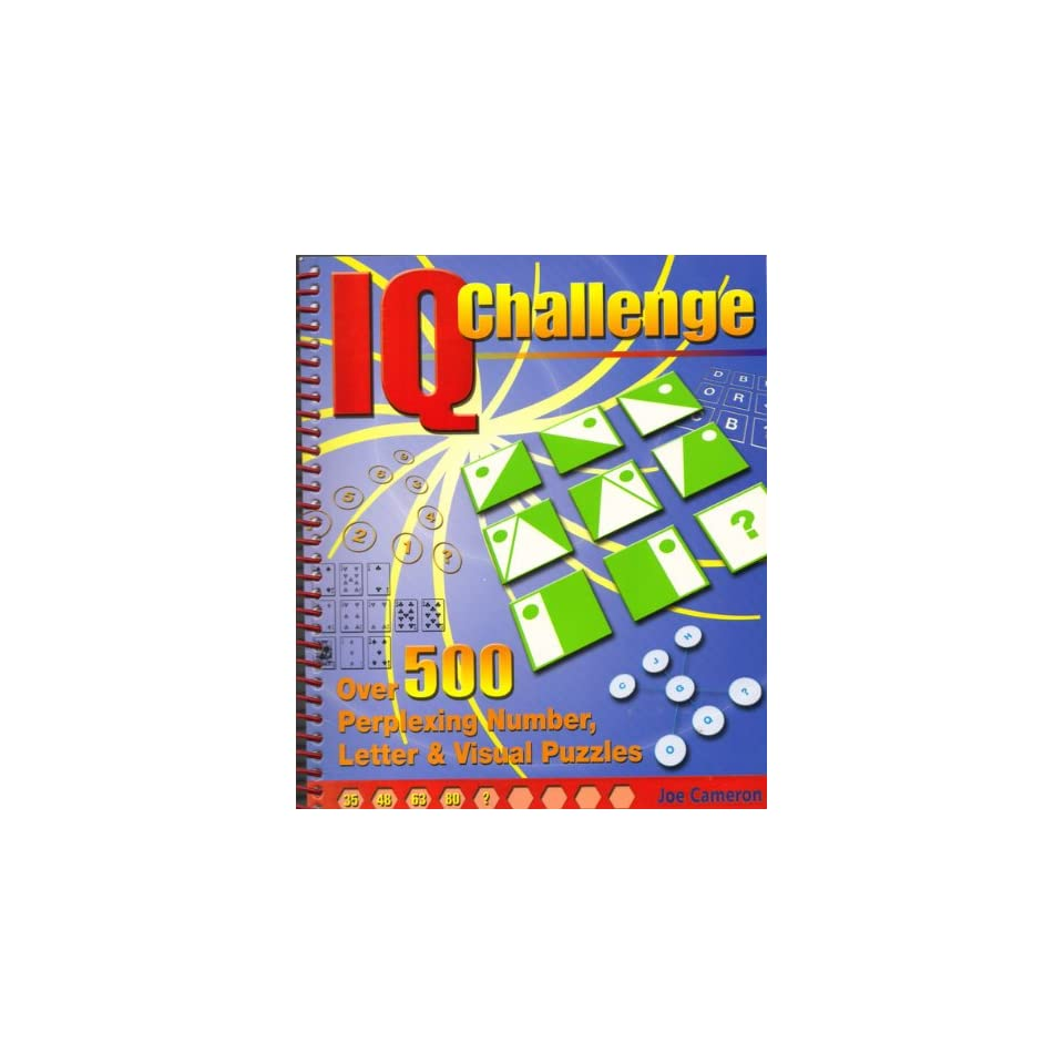 IQ Challenge Over 500 Perplexing Number, Letter & Visual Puzzles