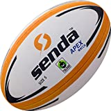 Senda Apex Match Rugby Ball, Fair Trade Certified, Orange/White, Size 5 (Ages 15 & Up)