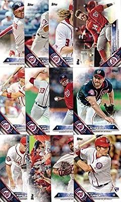 2016 Topps Series 1 Washington Nationals Baseball Card Team Set - 12 Card Set - Includes Bryce Harper, Jayson Werth, Ryan Zimmerman, Trea Turner, Max Scherzer, and more!