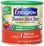 Enfagrow Toddler Next Step Vanilla  Powder Can, for Toddlers 1 Year and Up, 24 Ounce Powder Formula