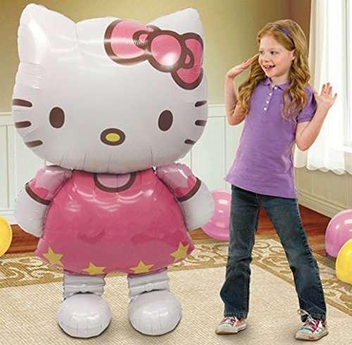 New Large Size Hello Kitty Cat Foil Balloons Cartoon Birthday Decoration Wedding Party Inflatable Air Balloons Classic Toys