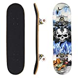 Ancheer Skateboard Complete Profession Wood Full Size Skate Board 31