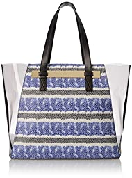 Vince Camuto Jace Travel Tote, Lapis Blue/Gray, One Size