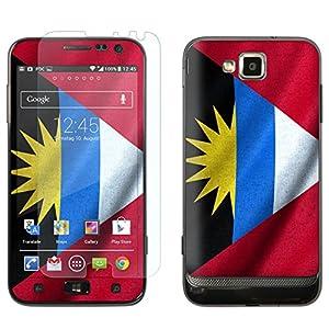 """atFoliX Designfolie """"Antigua und Barbuda Flagge"""" für Samsung Ativ S (GT-I8750) - Displayschutzfolie inklusive"""