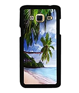 printtech Beach Hawaii Sea Back Case Cover for Samsung Galaxy J3 Pro