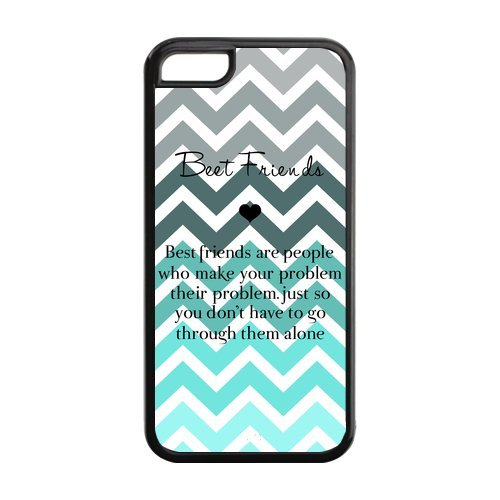 Best Friend Tiffany Fade Turquoise Chevron Apple Iphone 5C Best Durable Pvc Cover Case front-818625