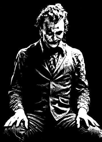 Joker de el caballero oscuro estilo del arte Pop pintura al óleo 40 x 28 pulgada. Pintado a mano obra de arte, NO un Giclée, cartel o lona impresa. Este es un hermoso de la interpretación de una obra de arte clásico. Pinceladas