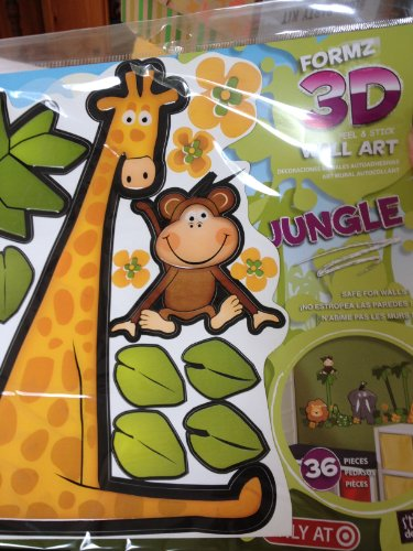 FORMZ 3D PEEL & STICK WALL ART JUNGLE 36 PIECES