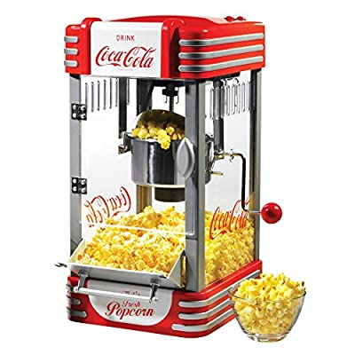 Nostalgia Electrics Coca-Cola Series RKP630COKE Kettle Popcorn Maker from Englewood Marketing Group Inc
