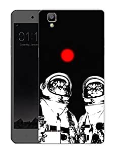 "Cats And Red Moon Printed Designer Mobile Back Cover For ""Oppo F1"" (3D, Matte, Premium Quality Snap On Case)"