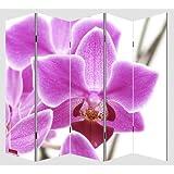 Paravento divisore doppia immagine 5 pannelli M68 180x200cm ~ orchidee