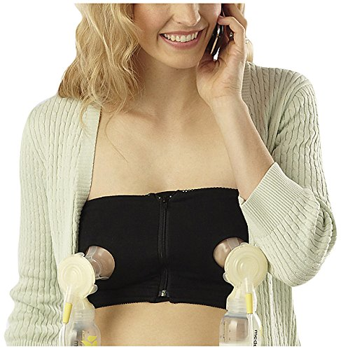 Find Bargain Medela Easy Expression Hands-Free Bustier, Black, Medium