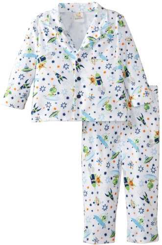 Absorba Baby-Boys Infant Space Ship Pajama Set, Printed, 24 Months front-773996