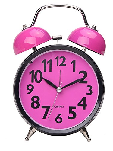 Maytime Quartz Analog Retro Vintage Simple Non-Ticking Twin Bell Alarm Clock With Loud Alarm and Nightlight 4.5