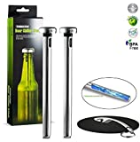 Beer Bottle Cooler Sticks for Rapid Chilling and Keeping Beer Cold By Iron Gadget Offer You a Easy to Install Sticks Designed to Keep Beer Cold Till the Last Sip. BONUS: Beer Bottle Opener and Coaster, Enhance Your Beer Drinking Experience Now!