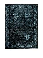 CarpeTrade Alfombra Persian Vintage (Azul Petróleo/Negro)