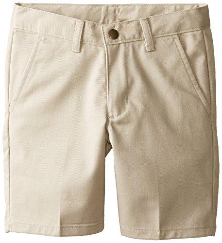 Izod Little Boys' Flat Front Short Regular, Khaki, 05/Regular