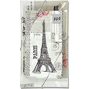 Paris Eiffel Tower Transferware Tray And Guest