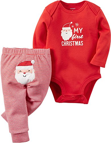 "Carter's Baby 2-Piece Bodysuit and Pant Set, ""My First Christmas"", Red, 9M"