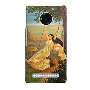 ColourCrust Micromax Yuphoria Mobile Phone Back Cover With Meera Mythological Art - Durable Matte Finish Hard Plastic Slim Case